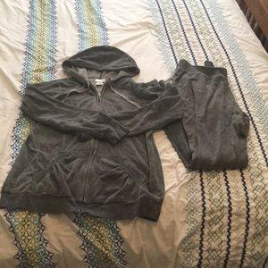 Grey Maternity track/sweat suit. Jacket + Pants